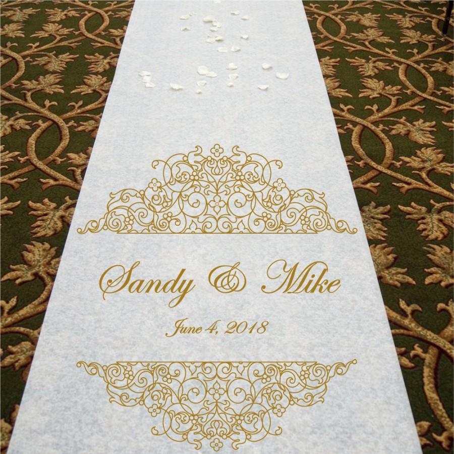 Mariage - Fancy Scrolls - Wedding Aisle Runner
