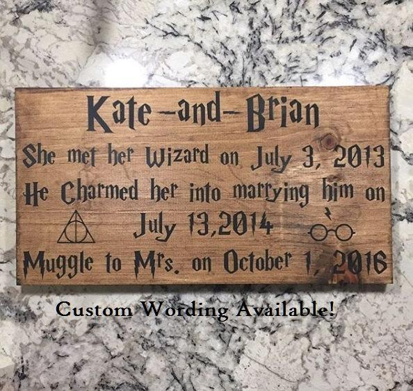 Harry Potter Inspired Personalized Bridal Shower Or