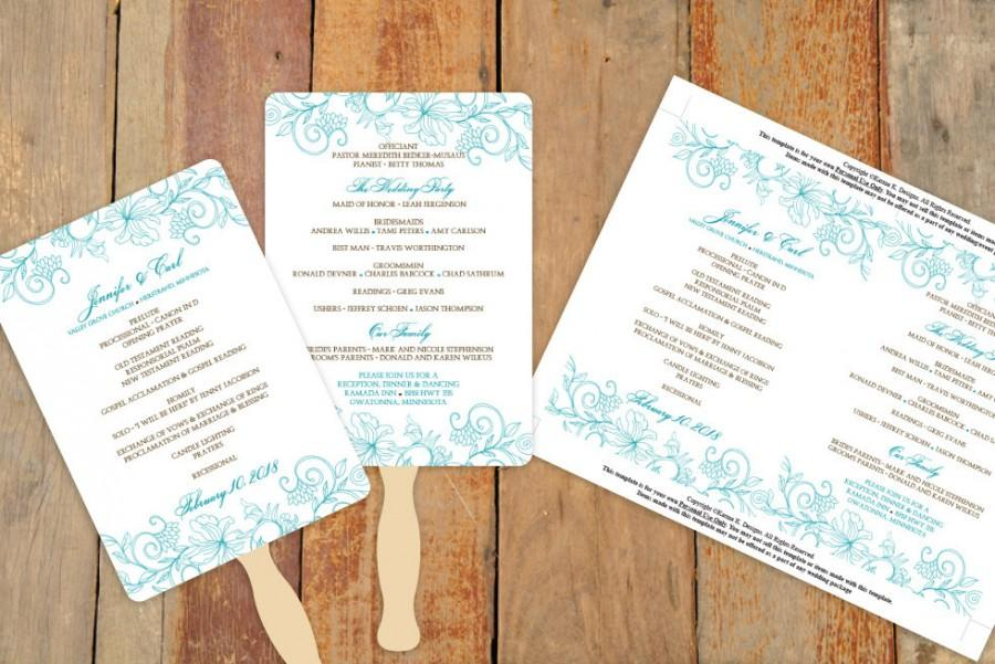 Wedding fan program template instant download edit yourself wedding fan program template instant download edit yourself vintage bouquet peacock 5 x 7 microsoft word format solutioingenieria Image collections