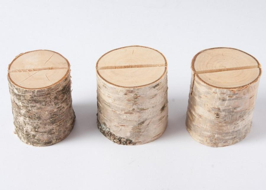 10 rustic place card holders, table number holder, birch wedding