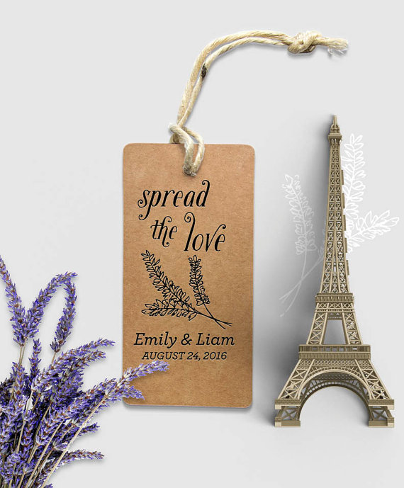 spread the love for wedding gifts with names and wedding date diy