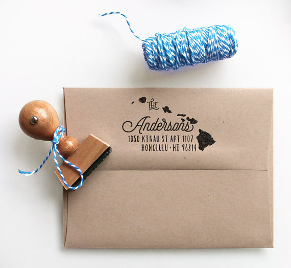 Custom hawaii state return address stamp perfect gift for holidays custom hawaii state return address stamp perfect gift for holidays housewarming parties and weddings or as business card reheart Gallery