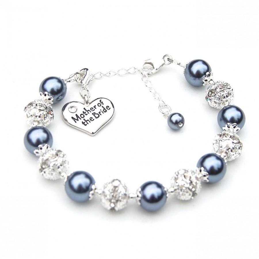 Свадьба - Mother of the Bride Gift Bracelet, Mother of the Groom Bracelet, Romantic Wedding, Mother of the Groom Gift, Mothers Gift