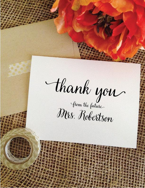 Bridal Shower cards wedding Thank You Card Personalized Wedding Cards Thank  Yous From the Future Mrs card Thank youBridal Shower Cards Wedding Thank You Card Personalized Wedding  . Personalized Wedding Cards. Home Design Ideas