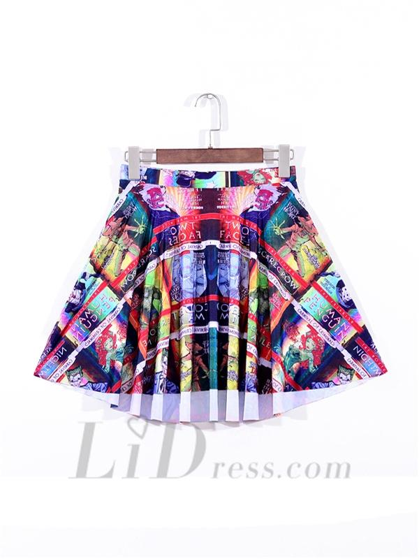 Hochzeit - Digital Printing Plaid Pleated Skirt Skt1100