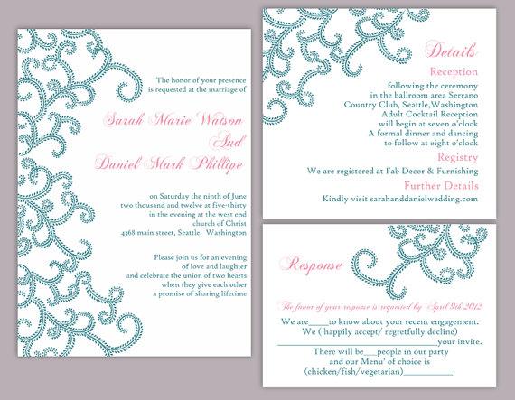 Diy bollywood wedding invitation template set editable for Editable wedding invitation templates free download