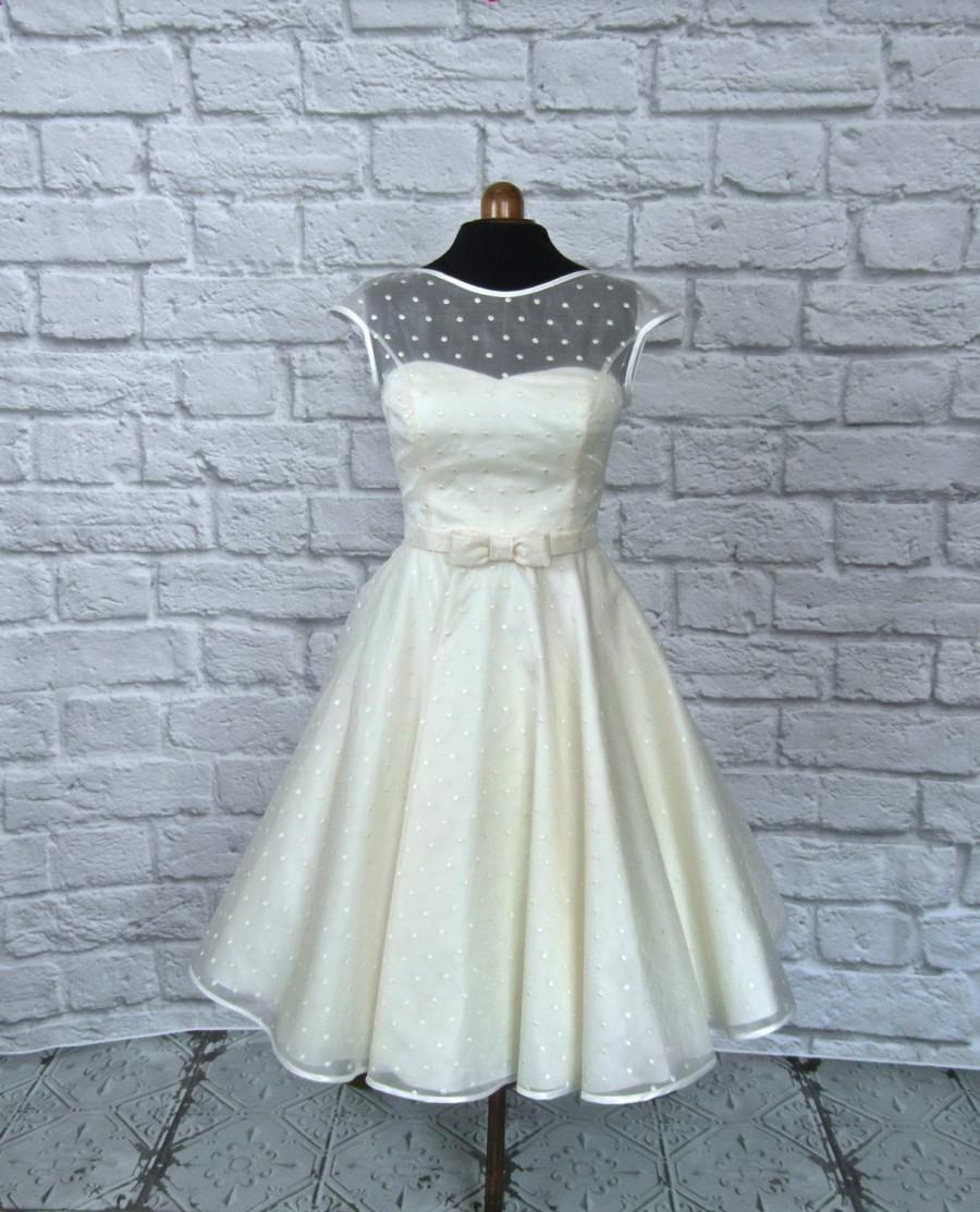 Mariage - The Dotty silk tea length wedding dress
