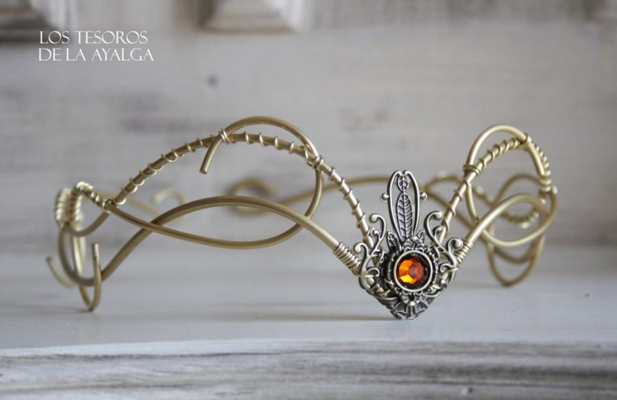 Mariage - elvish tiara • bridal headpiece •elven tiara