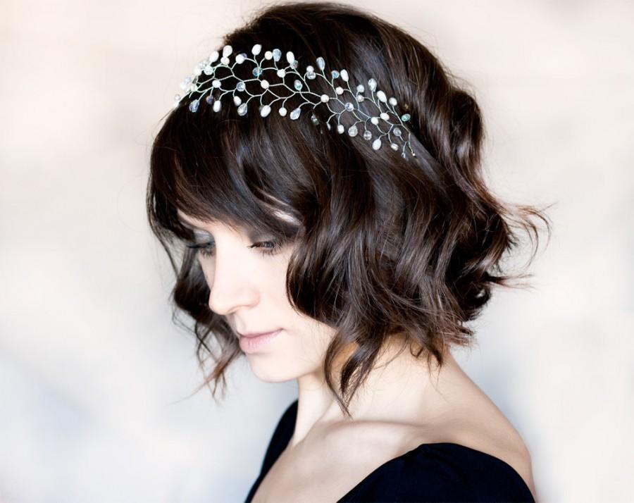 Mariage - 13_Silver headband, Crystal headband, Headband, Silver bride headband, Hair accessories, Bridal hair accessory wedding, Headbands, Tiara.