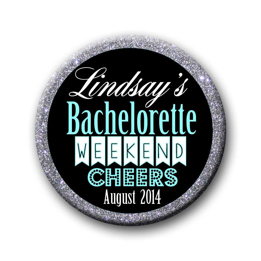 Свадьба - Custom Hen Party Bachelorette Bridal Shower Party Favors 2.25 inch Pinback Buttons Pins Badges The Bachelorette Party Crew Team Bride