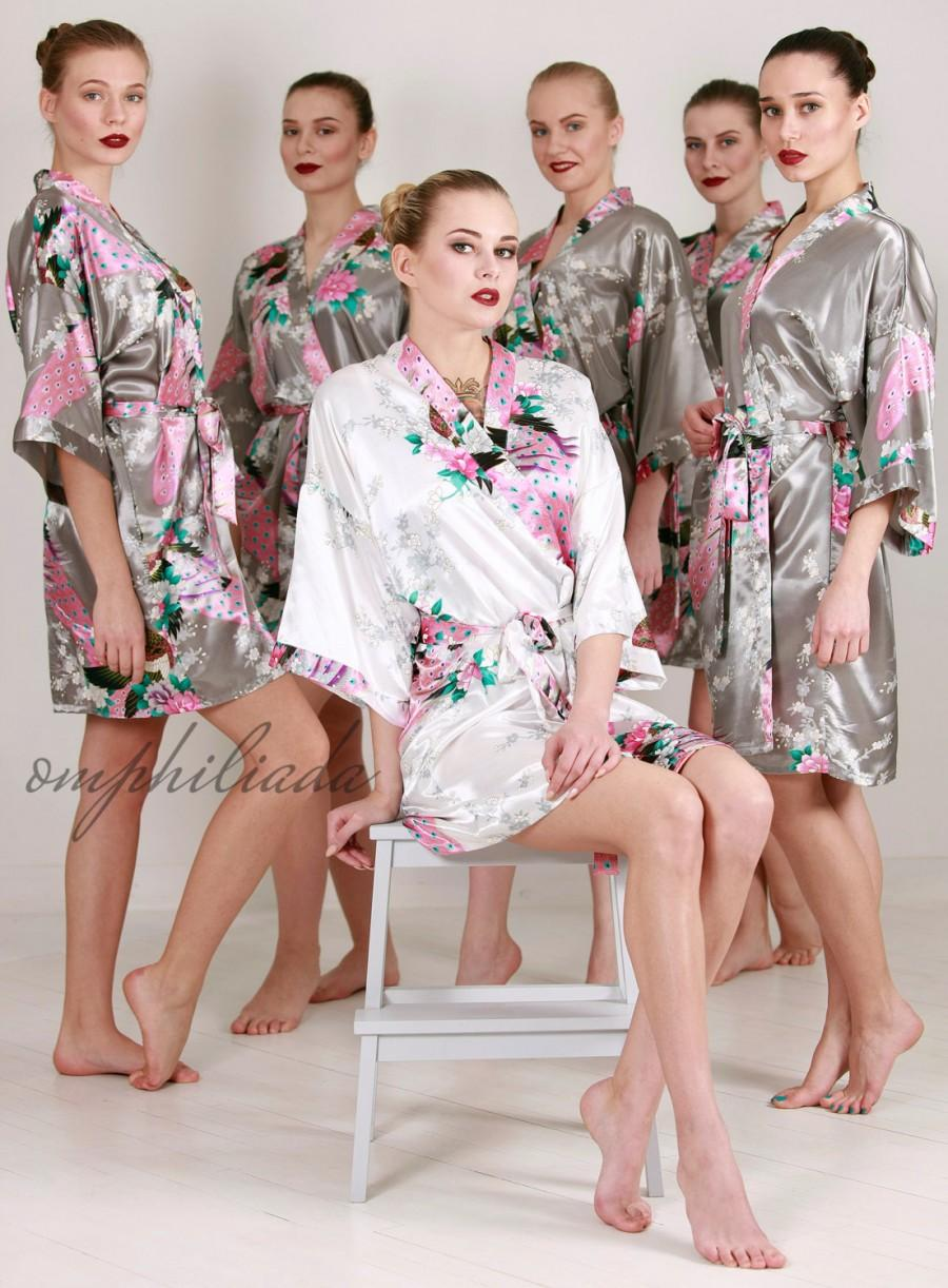 Sale Set Of 5 Robes Bridesmaid Gift Bridesmaid Robe Kimono Bridesmaids Party Robes Bridal Shower Robe Fast Shipping From New York 2559453 Weddbook