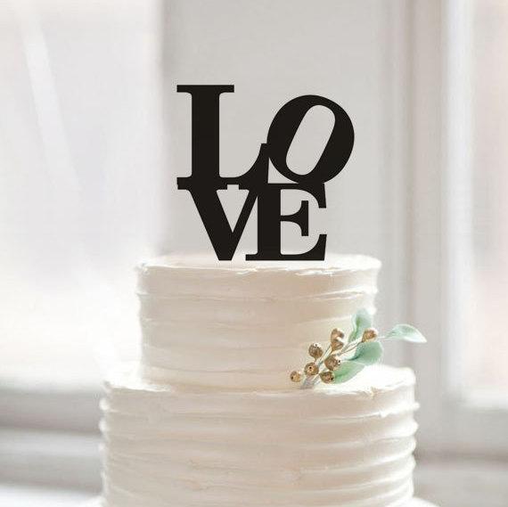 زفاف - Personalized love cake topper,wedding cake topper,romantic love wedding toppers,acrylic cake topper,rustic cake topper,word cake topper35895