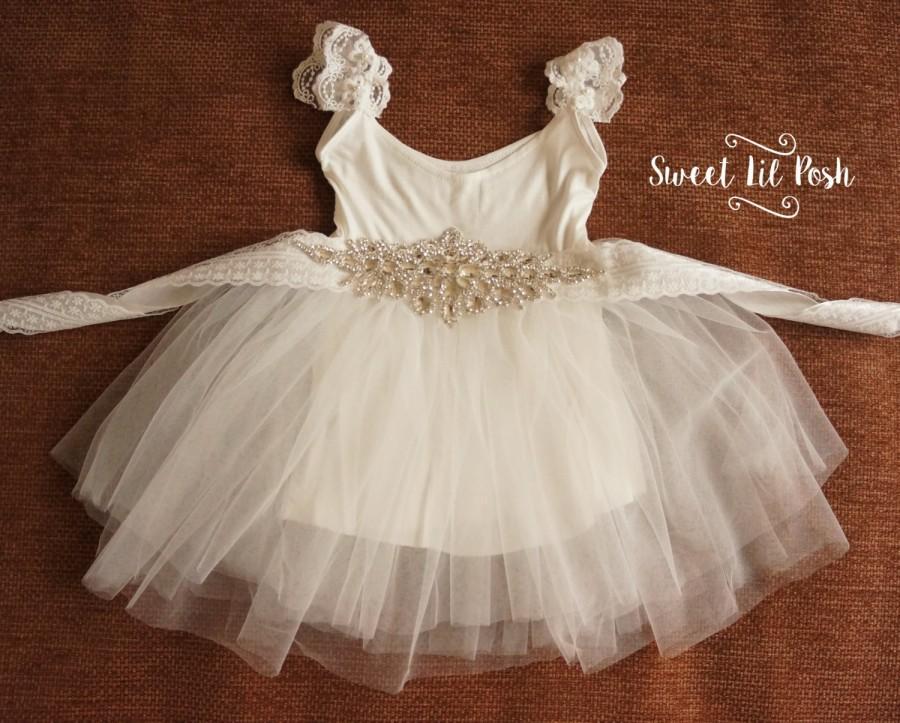 36354b8bb25 White Tulle Flower Girl Dress
