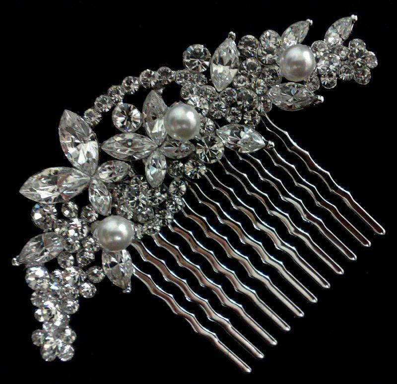 Свадьба - Bridal Hair Jewelry, Pearl Hair Comb, Crystal Bridal Comb, Vines Bridal Headpiece, Wedding Headpiece, Wedding Hair Comb, CLEO