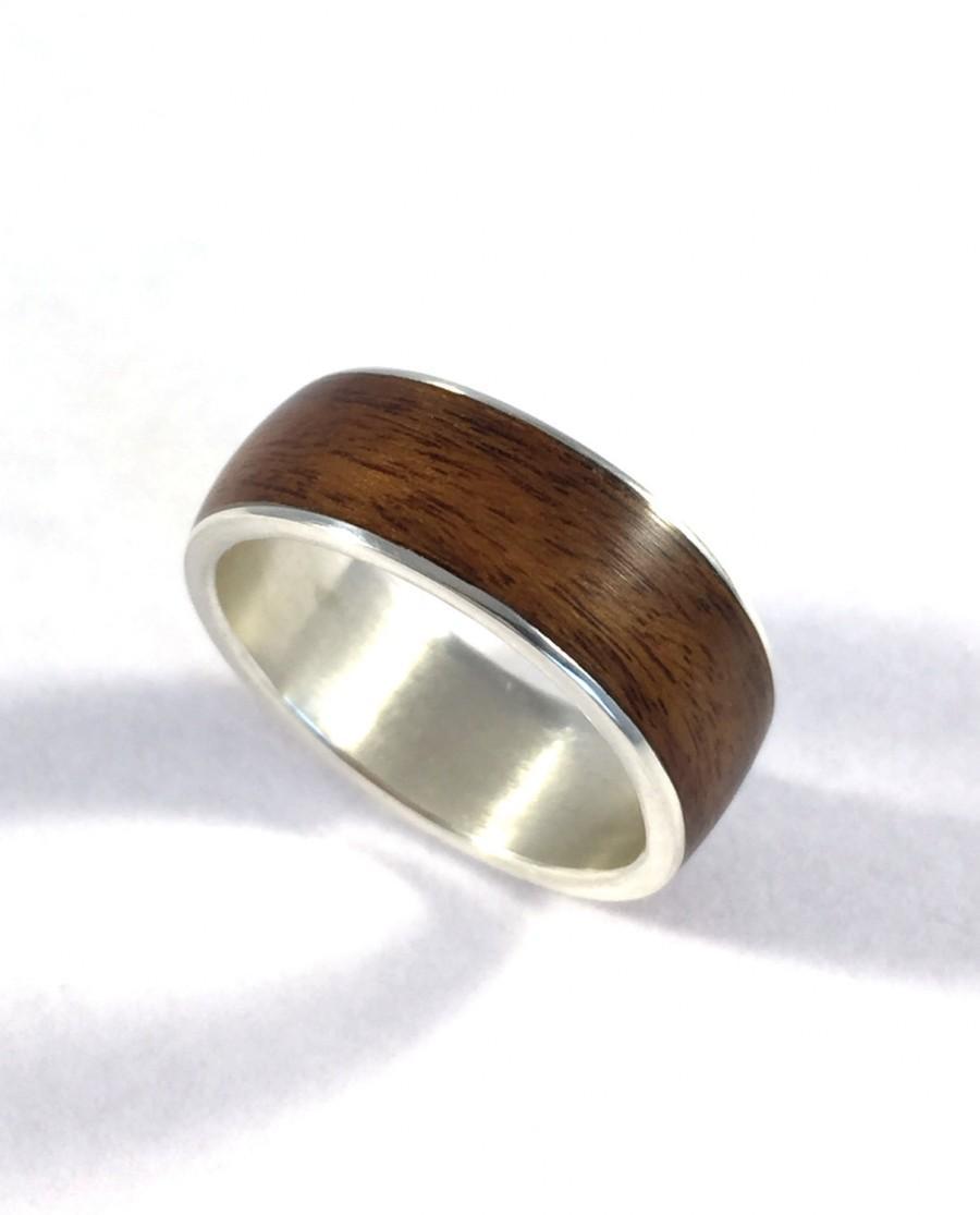 Mens Wedding Band Wood Ring Wood Wedding Band Wooden