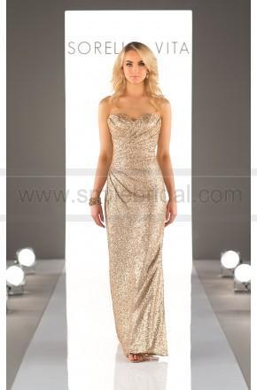 391909fce92 Sorella Vita Floor Length Sequin Metallic Bridesmaid Dress Style 8794