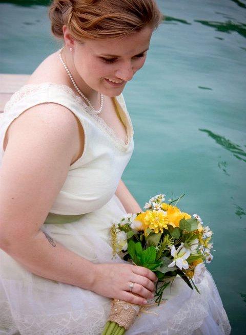 Spring Wedding Flowers Yellow Wildflowers Silk Rustic Bridal Bouquet ...