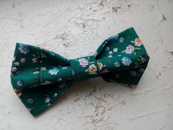 Свадьба - emerald bow tie virid floral bowtie emerald wedding self tie necktie hunter green ties matching handkerchief green cufflinks I gemelli verdi