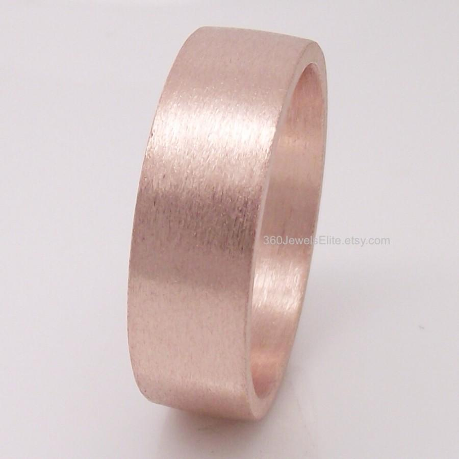 6mm Tube Ring- Rose Gold Plated - Over 925 Sterling Silver ...