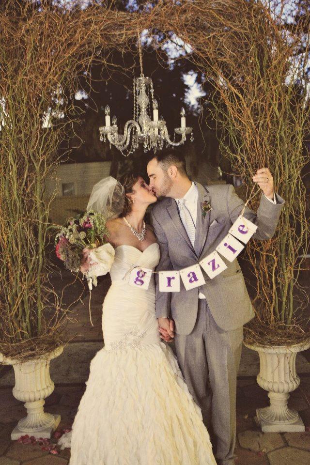 Свадьба - Wedding Banners , GRAZIE Banner , Wedding Decor , Grazie Sign , Thank You Card Banner , Italian Wedding Decor,You Choose the Colors