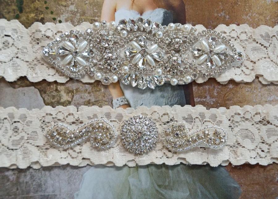 زفاف - Bridal Garter, Wedding Garter Set, Stretch Lace Garter, Purple Bridal Garter, Vanessa Style 10721