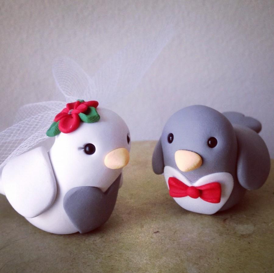 Wedding - Love Birds Wedding Cake Topper Handmade