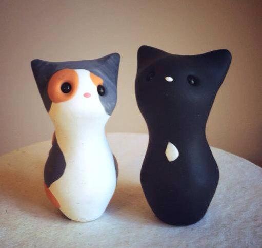 Свадьба - Meow Kitty Custom Wedding Cake Topper Handmade