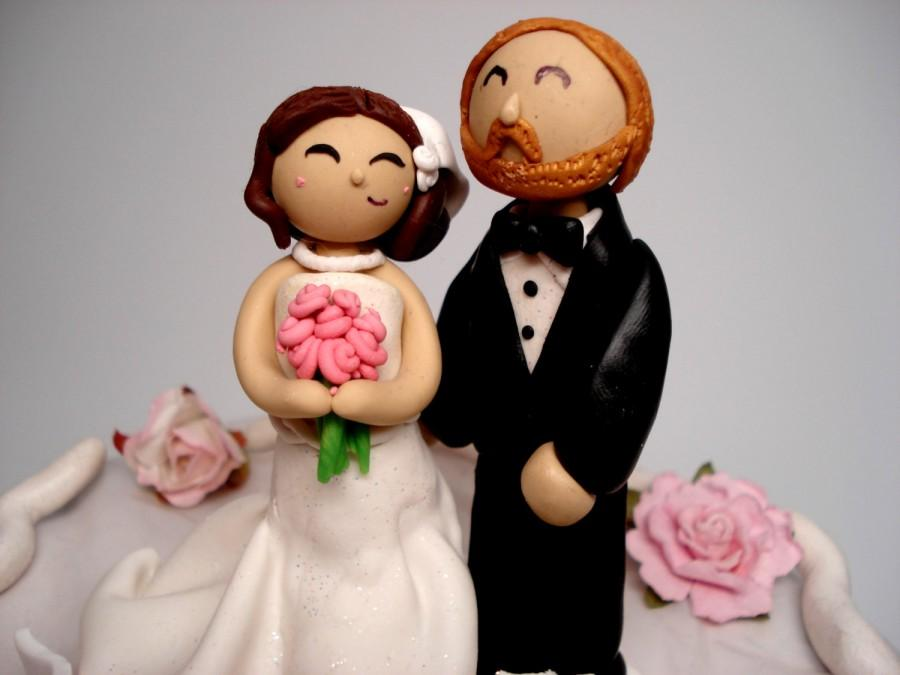 Свадьба - Wedding Cake Topper Bride and Groom Cake Toppers People Cake Topper Custom Wedding Topper Personalized Wedding Cake Toppers