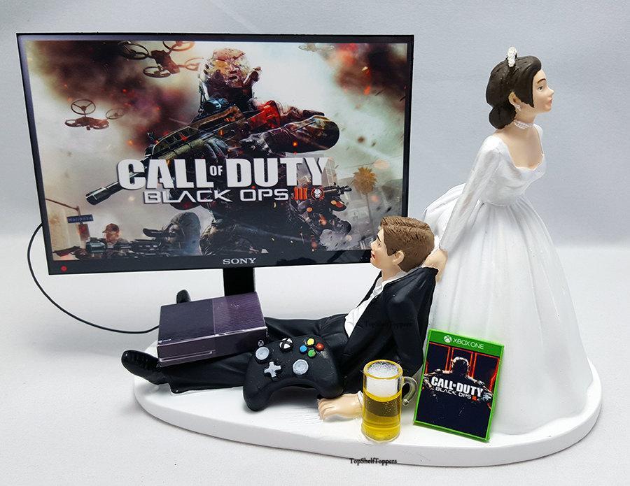 Свадьба - COD Blk Ops III Wedding Cake Topper Gamer Xbox One/PS4/PC