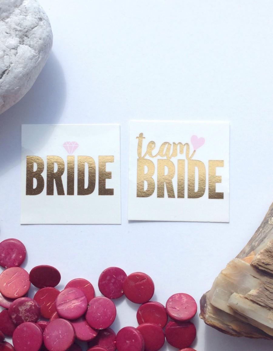 Свадьба - 12 tattoos / Team Bride tattoos / Bachelorette party tattoos / Bride Tattoo / Hen Party Tattoos / Gold tattoos / Wedding accessories