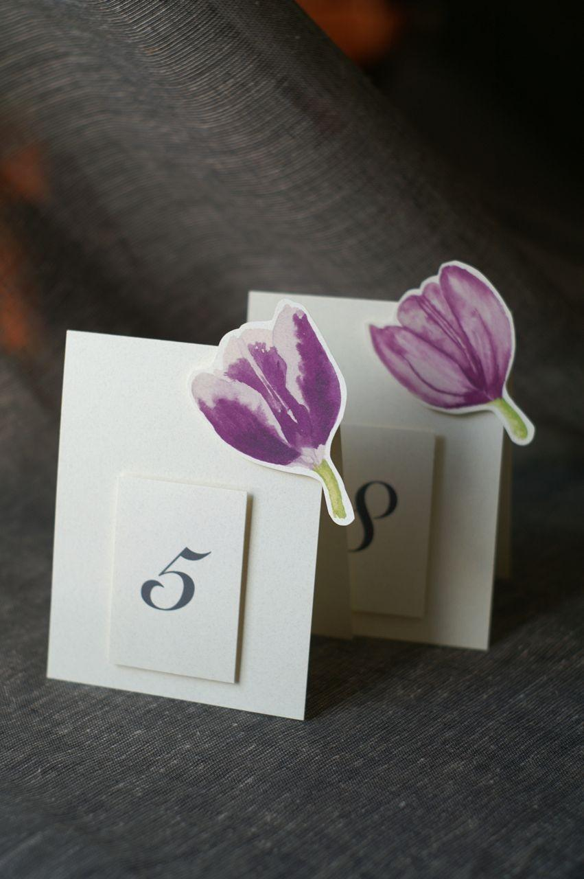 Свадьба - Mixed Purple Tulip Table Numbers - Weddings, showers, events, parties, holidays