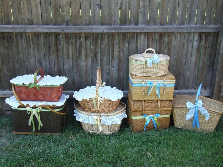 Свадьба - Customizable Concept - Personalized/ Custom Picnic Baskets and Bubble Baskets for Weddings/Baby Showers/ Events