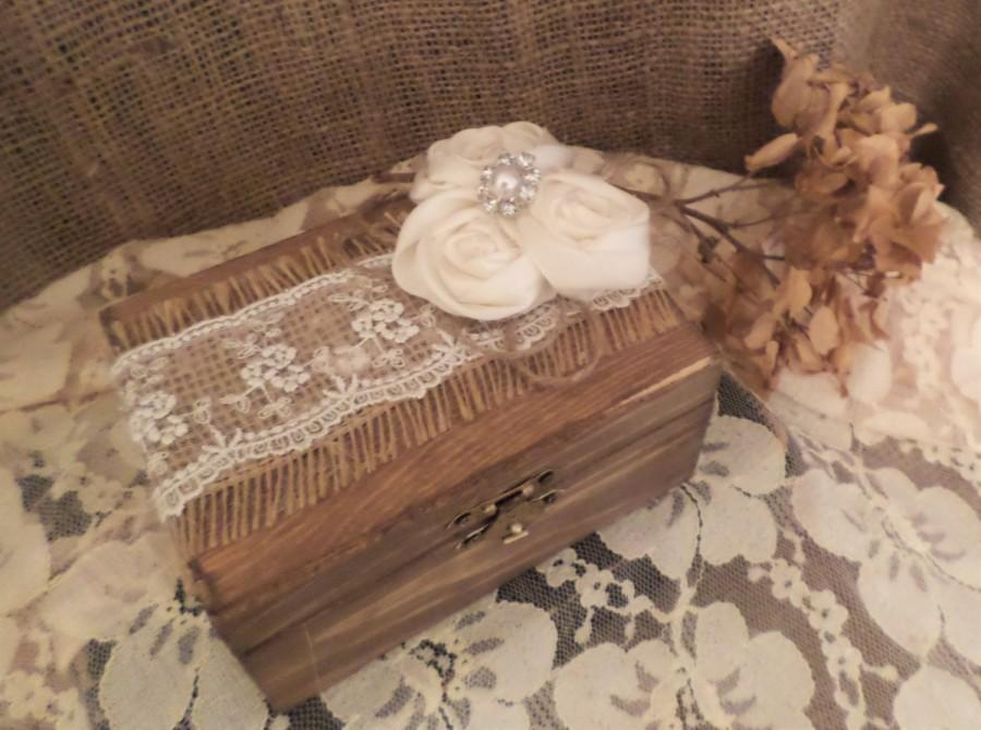 Свадьба - Rustic Ring Bearer Box