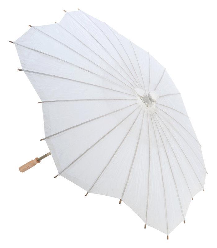"Свадьба - 32"" Paper Wedding Parasol Umbrella, Scallop Shape"