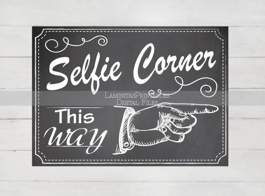 Selfie Station Props Frame Photobooth Sign Wedding Photo Booth Printable Backdrop Chalkboard