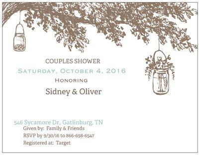 Mariage - Rustic Woodland Wedding Invitations Save the Date Tree Initials Engraved bridal shower invites Whimsical Engagement Party RSVP cards