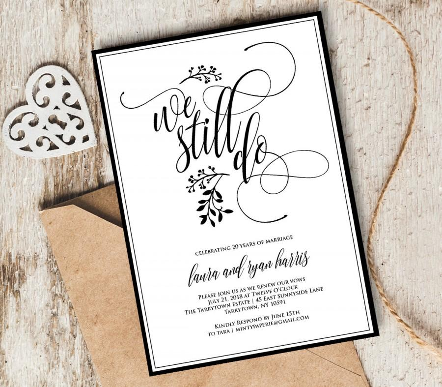 vow renewal invitation template we still do instant download