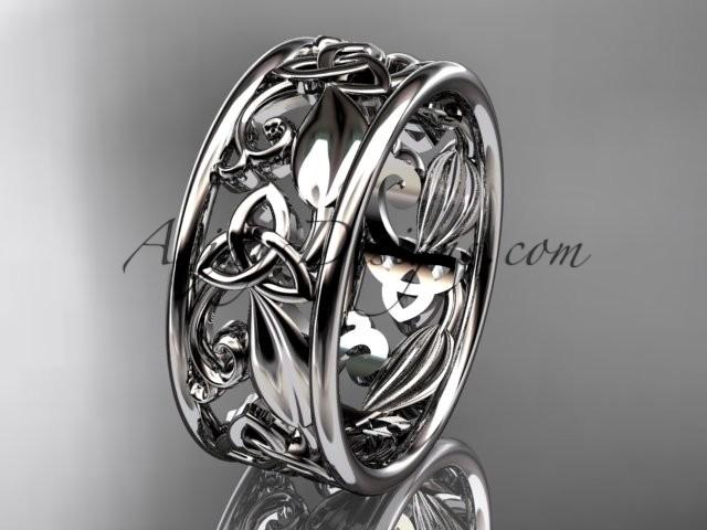 Hochzeit - Spring Collection, Unique Diamond Engagement Rings,Engagement Sets,Birthstone Rings - 14kt white gold celtic trinity knot engagement ring wedding band