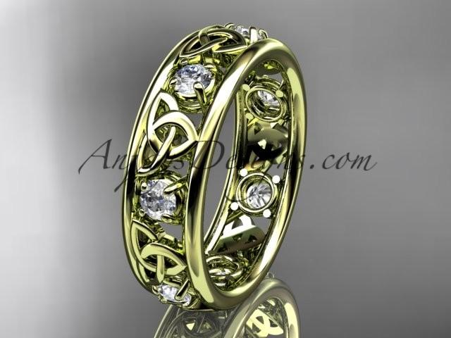 Mariage - Spring Collection, Unique Diamond Engagement Rings,Engagement Sets,Birthstone Rings - 14kt yellow gold celtic trinity knot engagement ring wedding band
