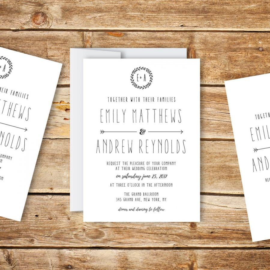 wedding invitation template printable wedding invitation diy