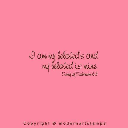 Wedding Stamp I Am My Beloved S And My Beloved Is Mine Bible Verses