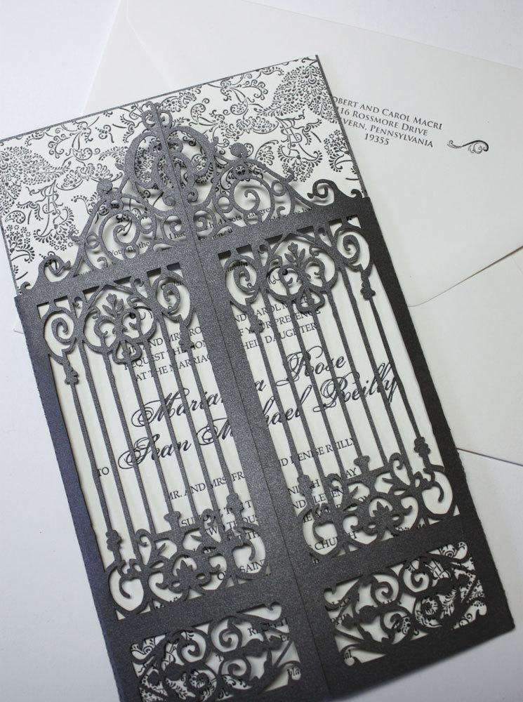 "Mariage - Laser cut scrollwork gatefold - ""Old Philly"""