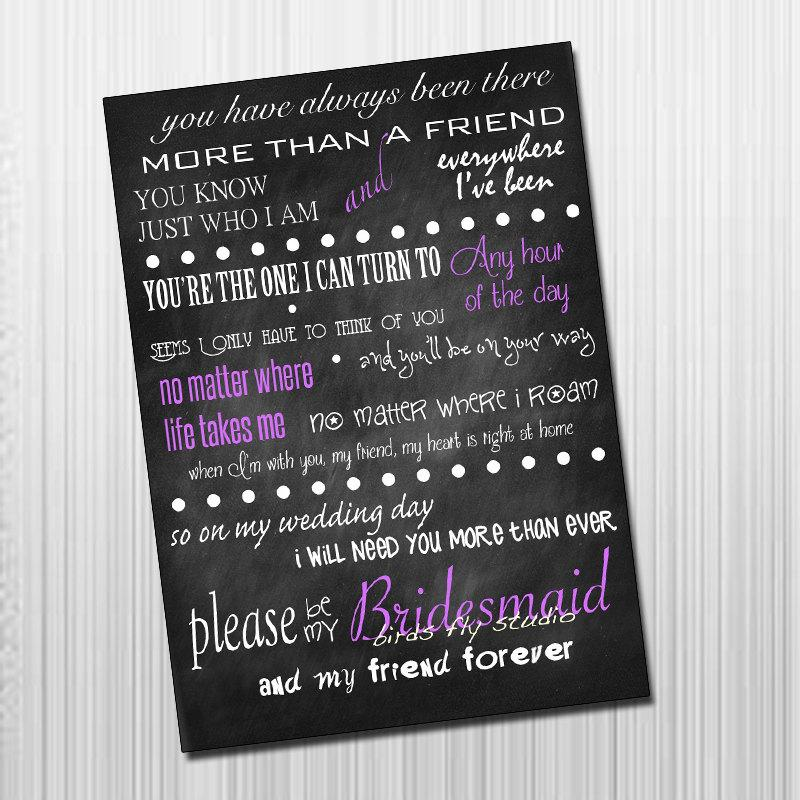 Diy Printable Card Diy Printable Will You Be My Bridesmaid Card
