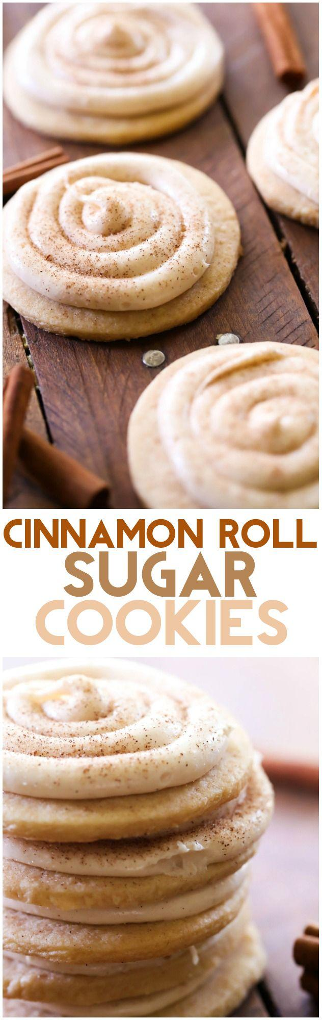 cinnamon roll sugar cookies i love cinnamon rolls they are one of my ...