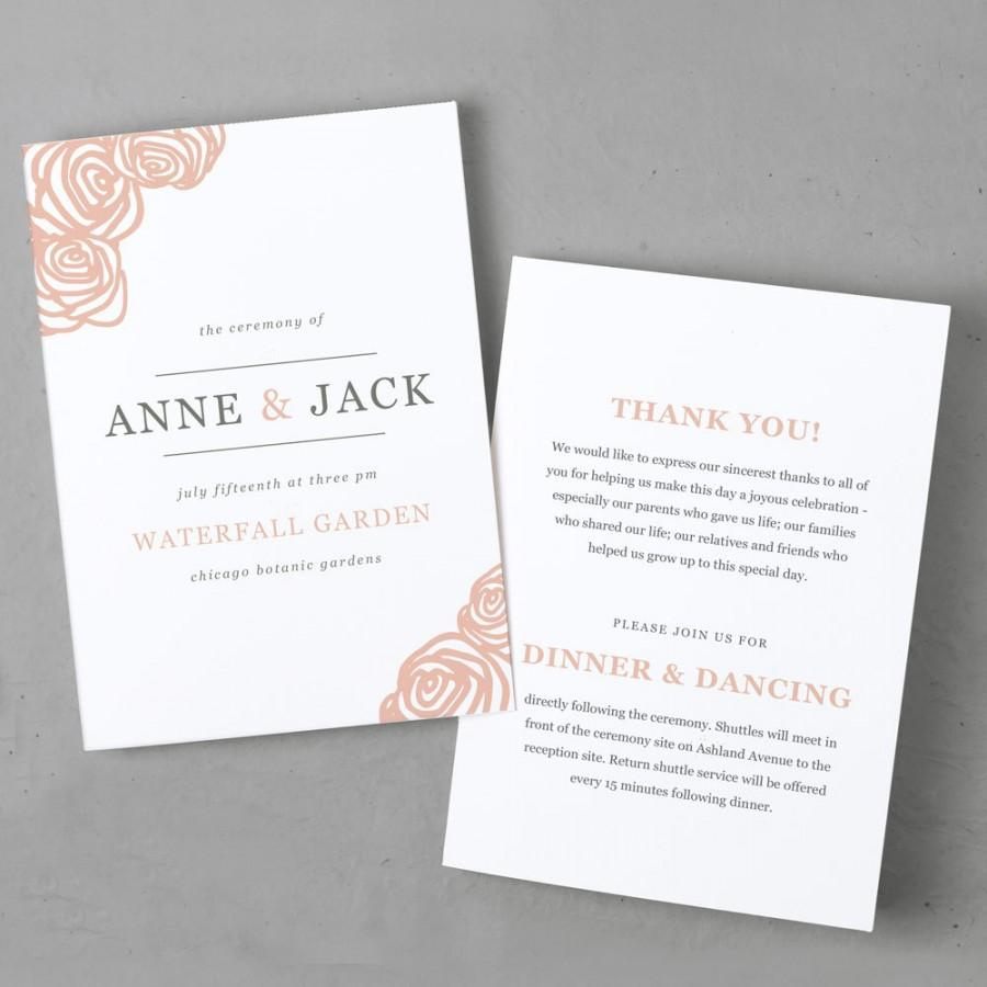 زفاف - DIY Printable Wedding Program Template