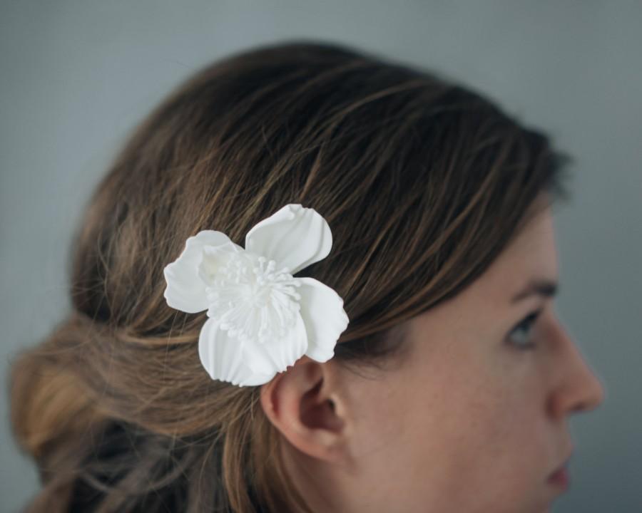 زفاف - Icelandic Poppy Comb- 3D Printed Hair Accessory in White or Black Nylon