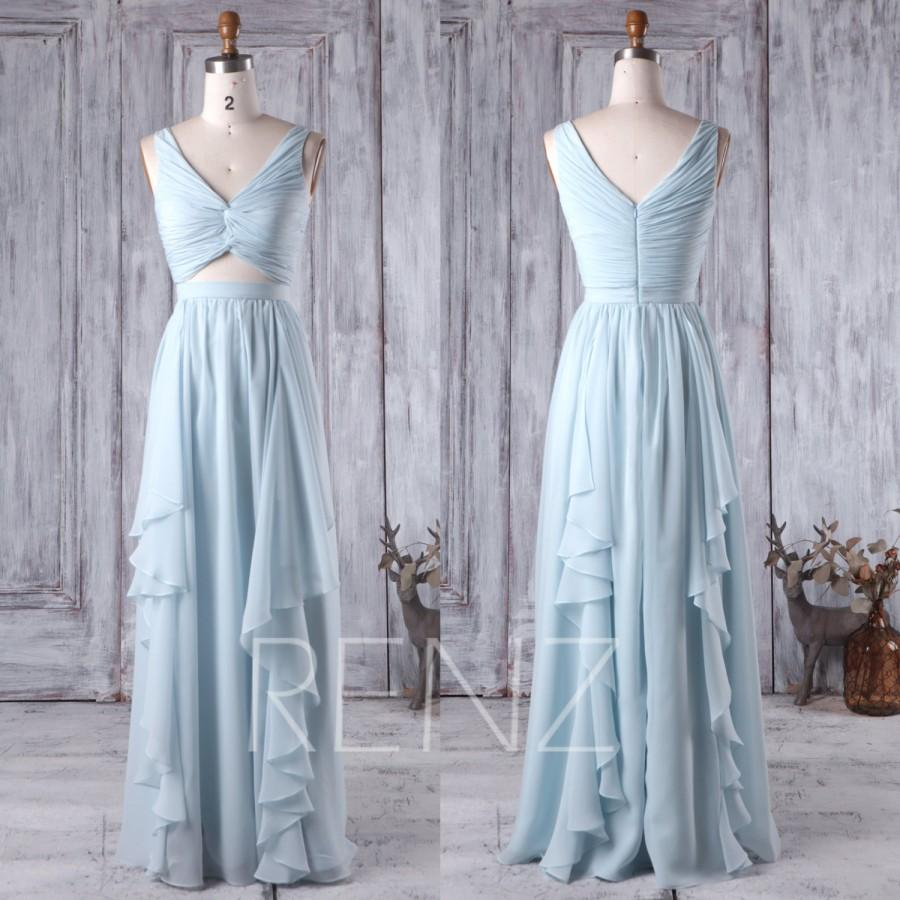 Light blue bridesmaid dresses long junoir bridesmaid dresses for Long blue dress for wedding