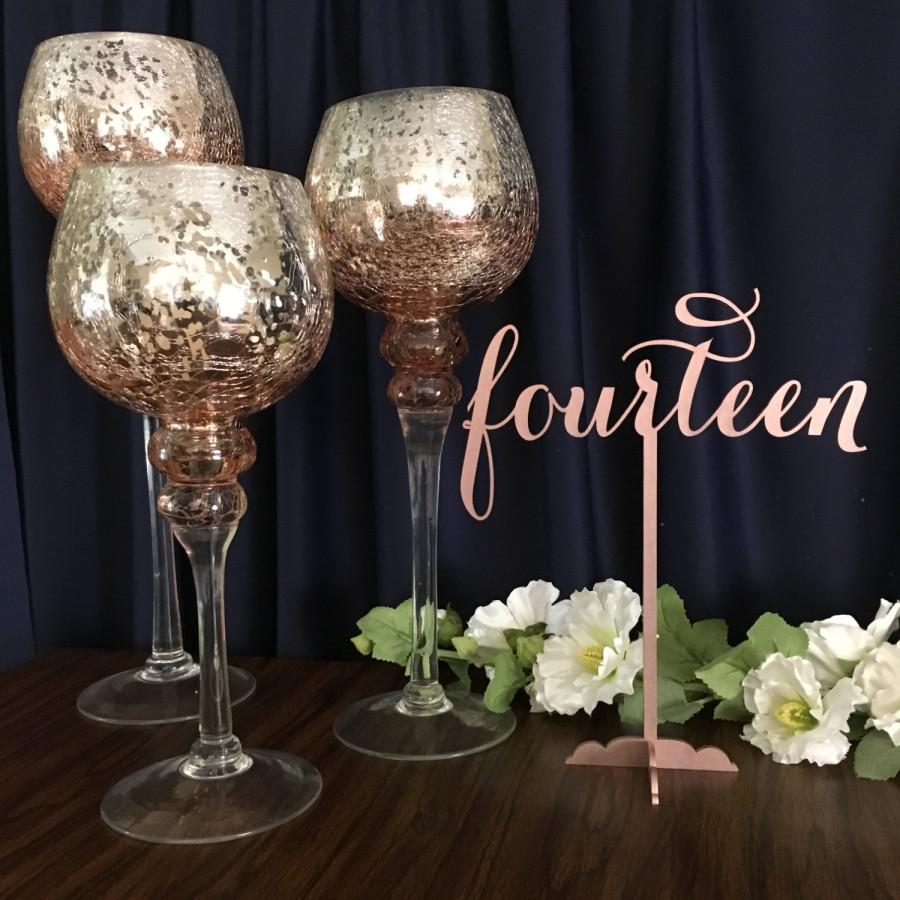 Rose Gold Table Numbers. Rose Gold Glitter Table Numbers, Cheap ...