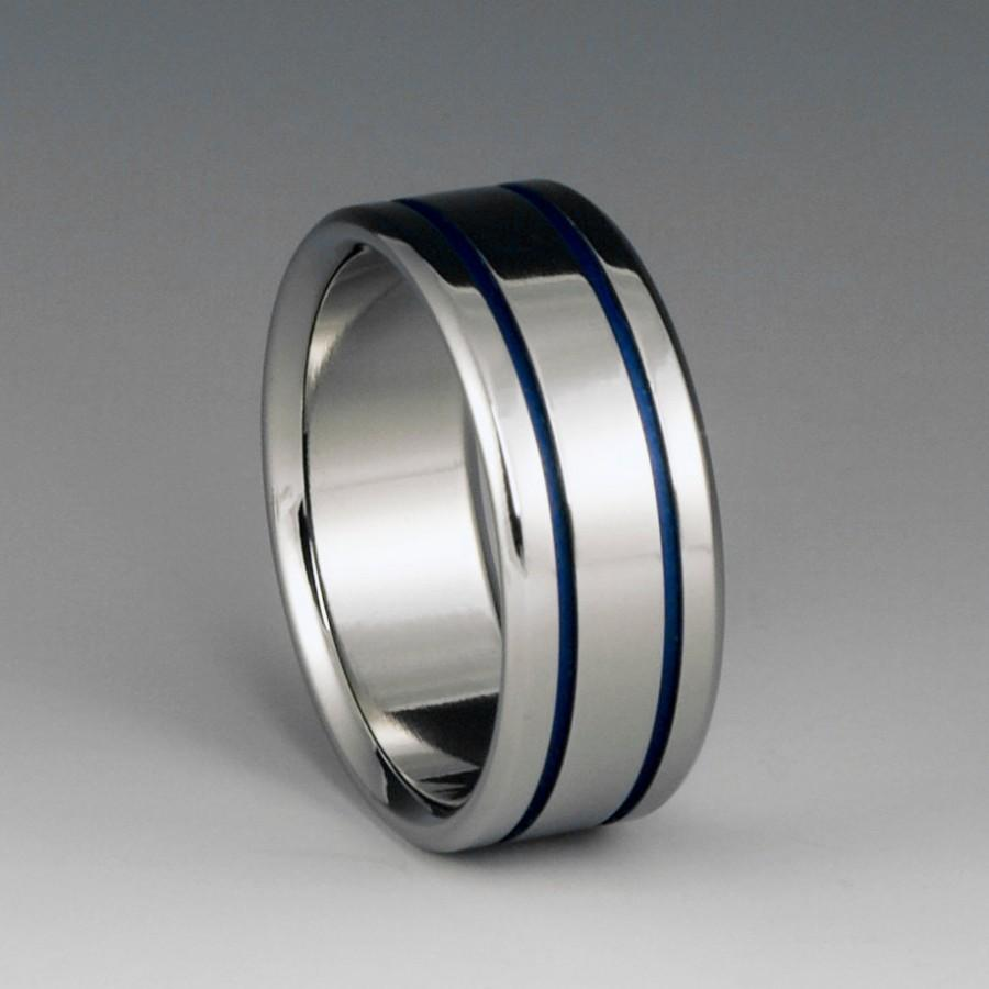 rings image mens with wedding titanium carbon inlay ring fiber jewellery blue meteorite bands besttohave and band