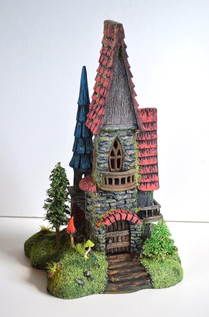 زفاف - Fairy castle  House decoration Wymsical houses Elf House  Wooden mansion  Fairy house   House  Gift Doll house gnome